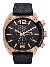 DZ4297 Overflow 49mm Large Black & Rose Gold Chrono with Date