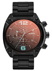 DZ4316 Overflow 49mm Large Black Chrono with Date & Iridescent Crystal
