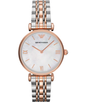 AR1683 Gianni T-Bar 32mm Bicolor ladies watch with MOP dial and steel bracelet
