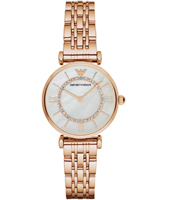 AR1909 Gianni T-Bar 32mm Rose gold ladies watch with MOP dial and steel bracelet