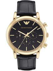 AR1917 Luigi XLarge 46mm Gold & Black Chronograph with Date