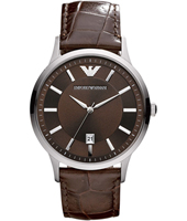 AR2413 Renato Large 43mm Brown Gents Watch with Date
