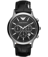 AR2447 Renato Large 43mm Black Chronograph with Date