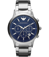 AR2448 Renato Large 43mm Steel & blue Chronograph with Date