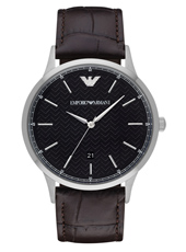 AR2480 Renato Large 43mm Black Gents Watch with Date