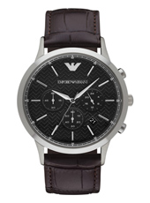 AR2482 Renato Large 43mm Black Chronograph with Date