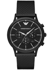 AR2498 Renato Large 43mm All black chronograph with date