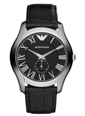 AR1703 Valente Large 43mm Black Gents Watch with Petite Seconde