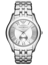 AR1788 Valente Large 43mm Steel Gents Watch with Small Second