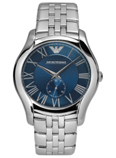 AR1789 Valente Large 43mm Steel & Blue Gents Watch with Small Second