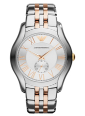 AR1824 Valente Large 43mm Bicolor Rose Gents Watch with Small Second