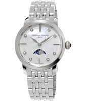 FC-206MPWD1S6B Moonphase 30mm Swiss Ultra Thin Quartz Watch with Moonphase