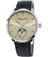 FC-705BG4S6 Slimline Moonphase 42mm Swiss Handmade Watch with Moonphase