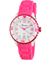 KV20Q444 Girl Trend   Pink & White Synthetic Girls Watch