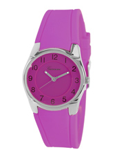 KV25Q429 Girl Trend  Red Purple Girls Watch with Silicone Rubber Band