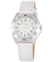 KV12Q456 Just Like... White Aluminium watch with leather strap