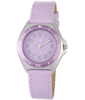 KV27Q456 Just Like... Lilac Aluminium watch with leather strap
