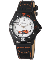KQ27Q452 Racer Watch with Sports car print on Leather Strap