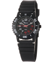 KQ13Q453 Trendy Scuba Black Sport Style Kids watch with Silicone strap