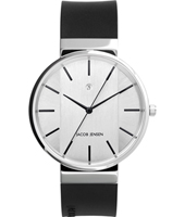JJ707 707 New Line 39mm Silver & black design watch with date