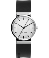 JJ747 747 New Line 29mm Silver & black design watch with date
