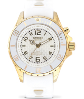 KG-004-40 Gold Ghost 40mm Gold & White Ladies Diver