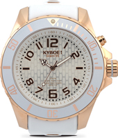 RG-003-55 Rose Gold Ghost 55mm Extra Large White & Rose 10 ATM Diver