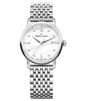 EL1094-SS002-150-1 Eliros 30mm Silver Ladies Watch with 8 Diamonds on Dial
