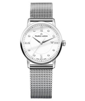 EL1094-SS002-150-2 Eliros 30mm Silver Ladies Watch with 8 Diamonds on Dial