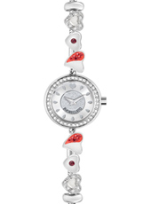 R0153122515 Drops Time Silver ladies bracelet watch with crystals & beads