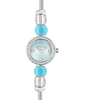 R0153122522 Drops Time Silver ladies bracelet watch with crystals & beads