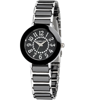 R0153103502 Firenze Silver ladies watch with ceramics