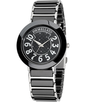 R0153103504 Firenze Silver and black ladies watch with ceramics