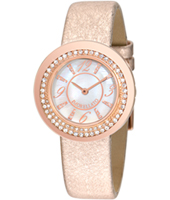 R0151112501 Luna Rose gold ladies watch with rose gold leather strap