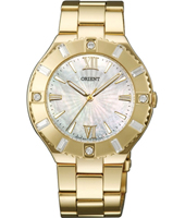 FQC0D003W  37mm Gold Ladies Watch with Crystals