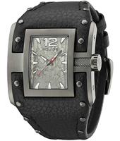 PL13401JSU-61 Avenger 45mm Unusual Rectangular Black & Gray Studded Bracelet Watch