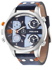 PL14374JS-03 Copperhead 52mm XL blue multifiunction dual time watch