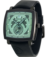 PL11599JSB-04 Phalanx 45mm Squared black watch with date & green crystal