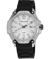 PL13939JS-04A Protector 45mm Steel gents watch with date on black rubber strap