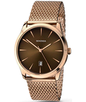 1066  39mm Rose Gold Gents Watch with Milanese Bracelet