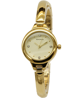 2037  25mm Trendy Gold Ladies Watch