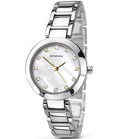 2064  28mm Trendy Silver Ladies Watch