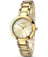 2065  28mm Trendy Gold Ladies Watch