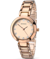 2066  28mm Trendy Rose Gold Ladies Watch