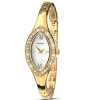 2100  19.60mm Gold Chique Ladies Watch