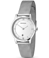 2101  28mm Silver Ladies Watch with Milanese Bracelet