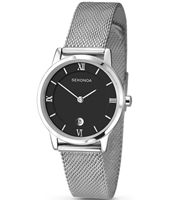 2102  28mm Silver Ladies Watch with Milanese Bracelet