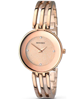 2108  30.70mm Trendy Rose Gold Ladies Watch