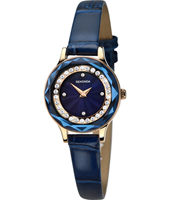 2280  25mm Rose gold & blue ladies quartz watch