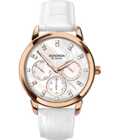 2285  37mm Rose gold ladies watch with daydate